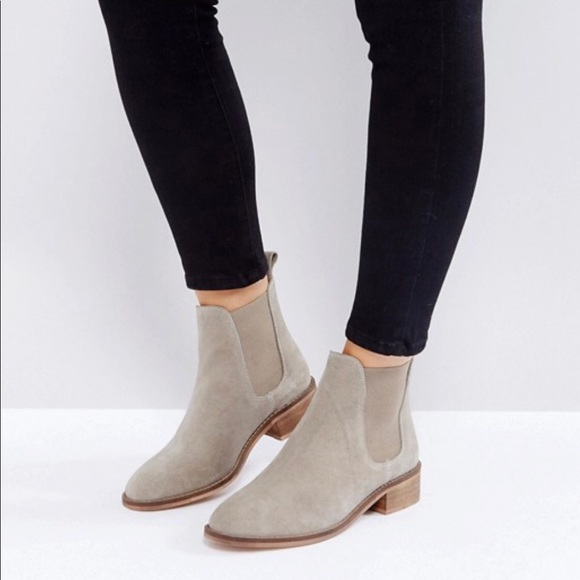 Shoes Asos Suede Chelsea Ankle Boots In Sand Tan Poshmark